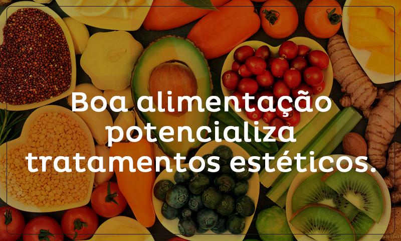 Boa alimentação potencializa tratamentos estéticos